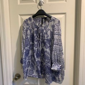 MNG Collection Sheer Blouse